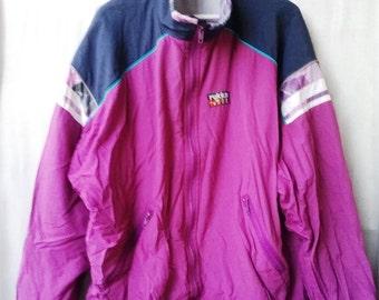 Vintage 80s90s Windbreaker multicolorbVINTAGE 1980s1990s WIndbreaker  Colorblock Multicolor Windbreaker L XL  Rukka  Purple+Blue