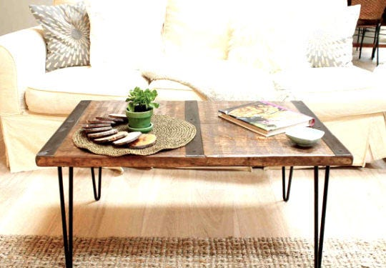 Table basse bois r cup r table basse table basse for Table basse recuperation