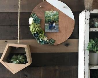 faux plant decor, succulent decorations, modern farmhouse, scientific wall art, picture frame, felt flowers, felt florals, fixer upper