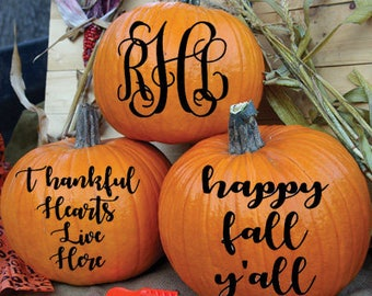 pumpkin decals pumpkin decor pumpkin stickers fall decor - Pumpkin Decor
