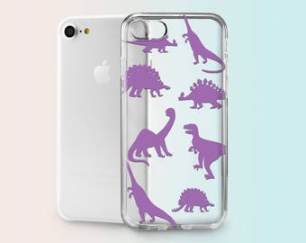 iPhone 6S Plus Case Dinosaurs iPhone 8 Case iPhone 7 Rubber Case iPhone Phone Case iPhone 8 Plus iPhone Clear Case iPhone 7 Plus AND1014