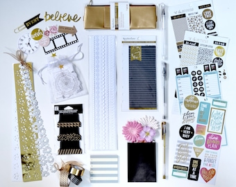The Neutral Queen Planner Accessories Kit | Planner Kit | Planner Stickers