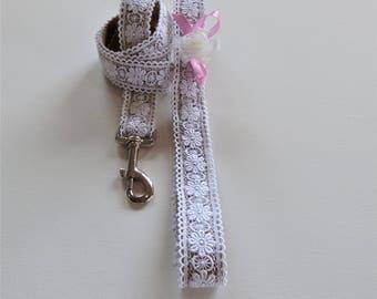 Heavenly Lace Wedding Dog Leash