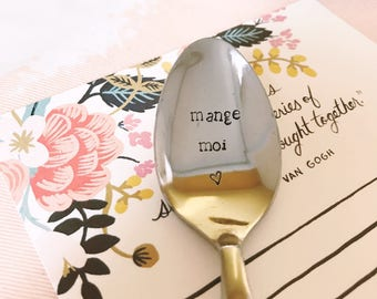 "Spoon to give to his sweetheart or friend ""eat me"" - spoon engraved"