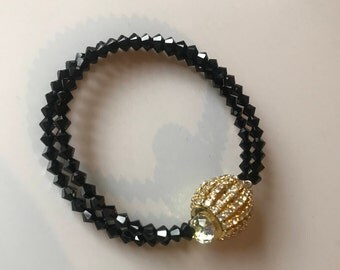 Jet Swarovski Rhondale bracelet