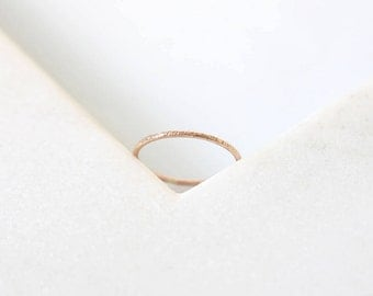 Textured Ring • 9K Rose Gold