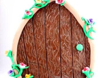 Fairy Door with Vines and Flowers