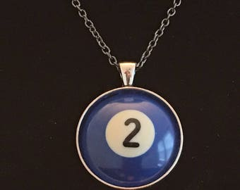 "Necklace - # 2 Pool Ball  (16""-24"")"