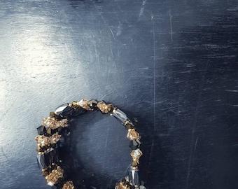 Autumn leaves - Autumn memories . Snake swarovski and magnets - Wrap bracelet - Wrap necklace -Magnetic bracelet with crystals  - Necklaces