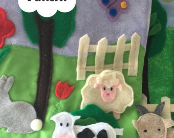 Farm Animals Quiet Book Page PDF Pattern, Felt Animals Sewing Pattern, Felt Animals Tutorial | PDF | Quiet Book | Activity Book |