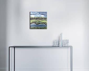 Acrylic paint - swamp