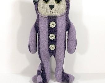 Purple Paisley Cat