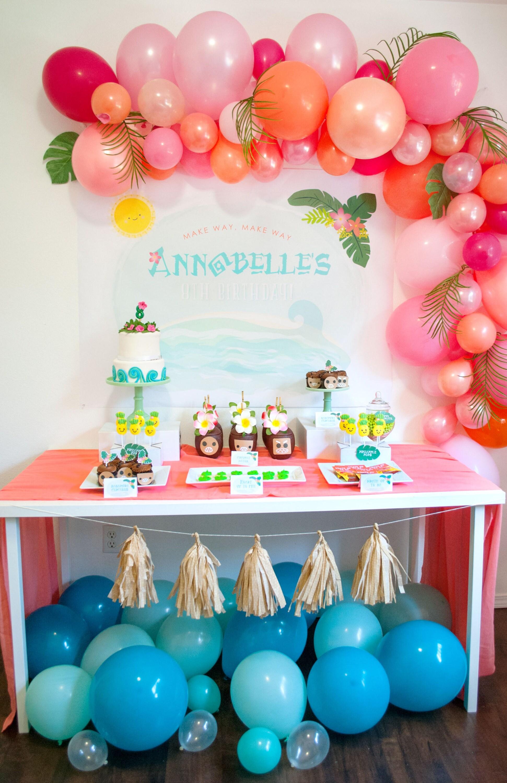 Tropical Ocean Dreams Party Backdrop Moana Inspired custom