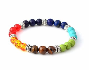 Bracelet pierre 7 chakras