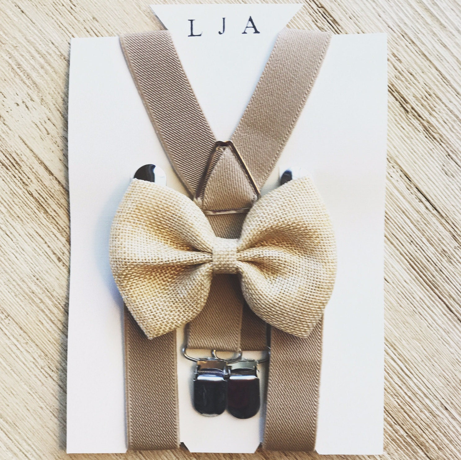 Burlap Bow Ties Suspenders For Boys Rustic Wedding Bow Tie And