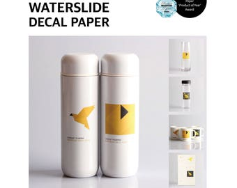 Sunnyscopa DIY Film-free No-cut Type A Laser Waterslide Decal Paper 10 sheets (glue included)