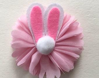 Bunny Ear Headband, Bunny Ear Hair Bow, Easter Barrette, Easter Bow