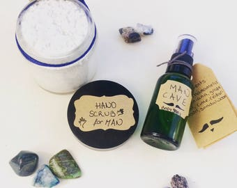 ManKit - Father's Day Gifts - Hand Scrub - Body Spritz - Man Cave - Gifts for Him - Artisan Aromatherapy