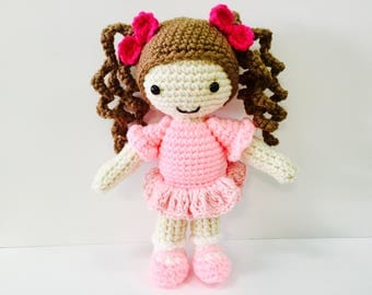 Sale! Crochet Ballerina Amigurumi Doll - In Stock