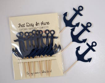12  ANCHOR CUPCAKE Toppers