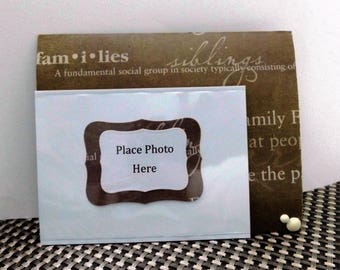 FAMILY Photo Magnet//Home Decor//Refrigerator Magnet//Photo Magnet//Photo Holder//Scrapbooking//Magnet//Family Gathering//Housewarming
