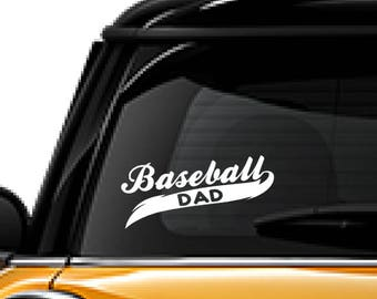 Baseball decal, FREE SHIPPING, gift for him, Dad sticker, White vinyl decal, sport decal, sports decor, home decor, laptop decal #117