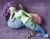 PATTERN - Mermaid - Miss of the Oceans - crochet doll siren amigurumi plushie toy, written PDF by OrlicaCraft