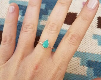 Turquoise Sterling Stacker Ring