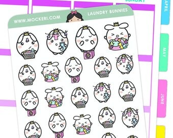 Laundry Bunnies / Planner Stickers