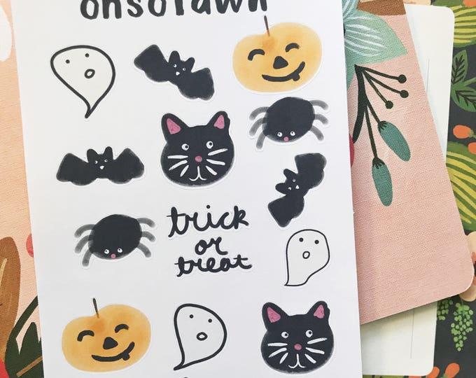 Hand Drawn Halloween Stickers