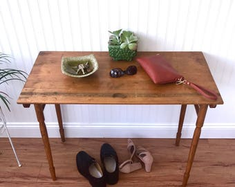antique foyer table vintage folding sewing table acme industrial table or desk vintage