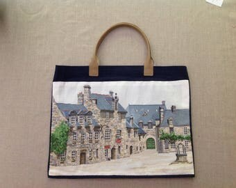 "tote bag or tote bag: ""medieval house"""