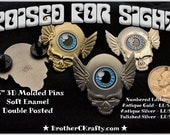 Poised For Sight - Grateful Dead Inspired Third Eye Tour Wings Pin Assorted Finishes
