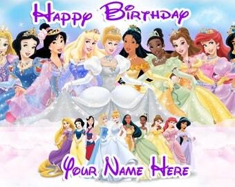 Birthday banner Personalized 4ft x 2 Disney Princess