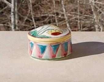 Sunflower Trinket Box Handmade Hand Painted