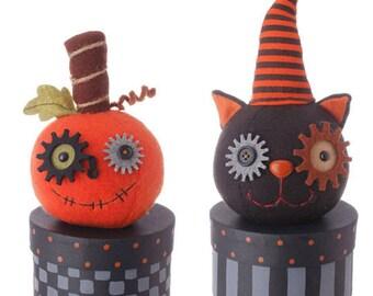 raz imports 9 pumpkin and cat box set of 2