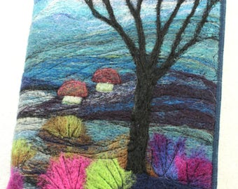 Book Cover/Picture Needle felting kit, craft kit, picture kit, hand made picture, kit