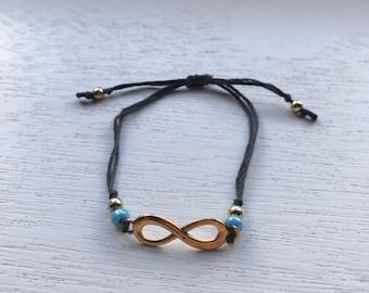 Beaded Infinity Bracelet