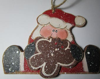Santa Christmas ornament.