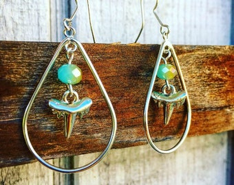 Shark tooth chandelier earrings