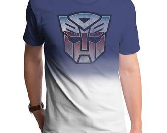 Transformers Distressed Autobot Logo (TRS0074-804RYW) Men's T-Shirt. Autobots, robots, Hasbro, Optimus, 80's tees, Megatron, transformers