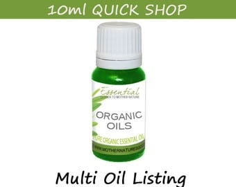 Essential Oil 10 ml (Organic) CHOOSE from 19 OILS! Quick Shop Pure Natural Aromatherapy