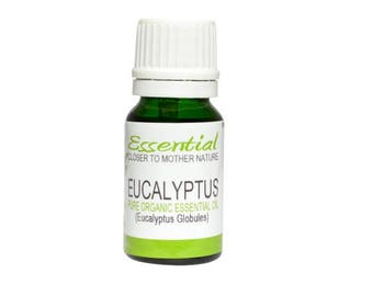 Eucalyptus Essential Oil (Organic) 10 ml and 100 ml Pure Natural Aromatherapy