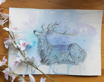 Majestic deer painting