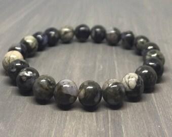 8mm Que Sera Stretch Bracelet - Gemstone Bracelet - Yoga Bracelet - Friendship Bracelet - Chakra Bracelet - Reiki Bracelet