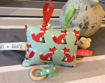 Toy Fox gift tags... Awakening rattle and teething.