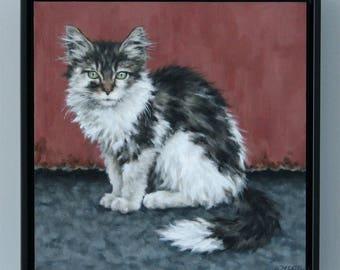 Dumpster Kitten / Original Oil Painting / Sarah Becktel