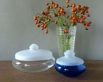 Cake drum, bonbonnière, cake dish, mid century glass, modernist glass, collectible glass, Copier Leerdam, Dutch Design, mid century, 60s