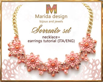 """Tutorial """"Sorrento"""" set (to make a necklace and the matching earrings)"""