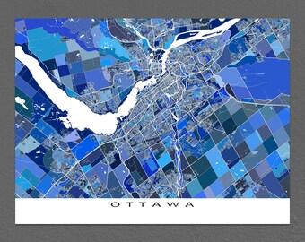 Ottawa Map Print, Ottawa Canada, Ottawa Art, Ontario City Maps